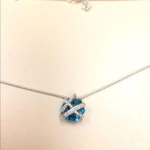 david yurman wrap blue topaz necklace
